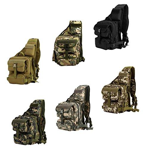 Gazechimp Im Freien Sport Herren, Männer Umhängetasche, Taktische Schultertasche Outdoor Sporttasche, Freizeittasche, Multifunktions- Molle Tasche Braun