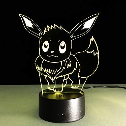 (3D-Nachtlicht Anime-Charakter (Berührungsschalter) 3D Led-Nachtlicht Usb 7 Farbe Kinder Baby Neon Nachttischlampe Schlafzimmer Tischlampe Urlaub Junge Mädchen Geschenk)