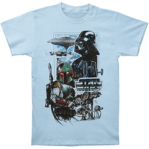 Herren Star Wars Reich T Shirt Blau Light Blau