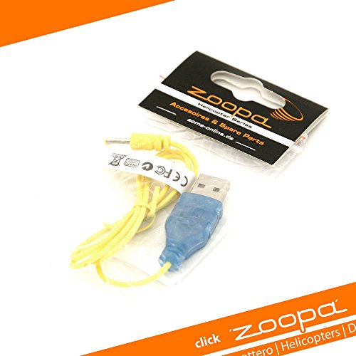 USB Ladekabel für AirAce Flash Back Heli zoopa 150 und manCopter, 5V - Syma Rot Helicopter
