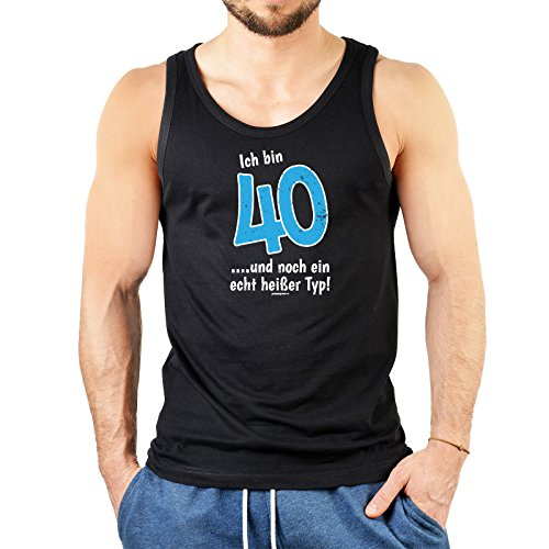 Herrentop Geschenk zum 40. Geburtstag Ich bin 40 und noch ein echt heißer Typ! Herrentops Männer Tank Tops Schwarz