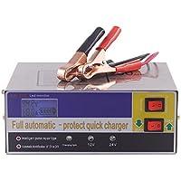 KKmoon 12V / 24V Chargeur de Batterie Intelligent Automatique LED Chargeur Mainteneur pour Voitures, Motos, ATV, RVS, Powersports, Bateau et Batterie au Lithium Batterie 140W AC220V