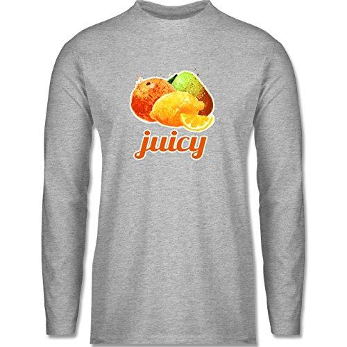 Statement Shirts - Juicy - Longsleeve / langärmeliges T-Shirt für Herren Grau Meliert