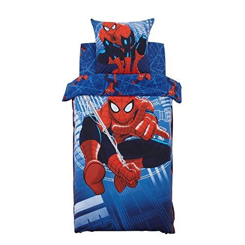 Spiderman Parure de couette en coton pour lit 1 plac