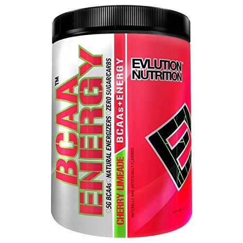 Evlution Nutrition BCAA ENERGY | Suplemento En Polvo De Aminoácidos Para Aumento Muscular Alto Rendimiento Resistencia | Contiene 30 Tomas Al Gusto De Limonada Con Cerezas