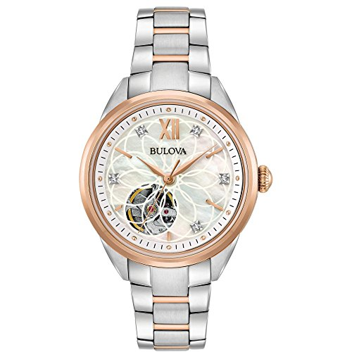 Bulova reloj de diamantes automática de la mujer 98P170