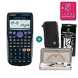 Casio FX-82DE Plus + Schutztasche + Geometrie-Set + Erweiterte Garantie