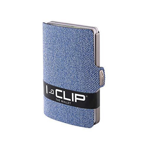 I-CLIP ® Cartera Jeans-Mirada Azul Disponible En