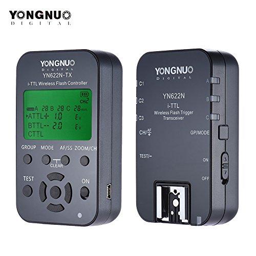 Yongnuo yn622N-kit Kabellose Fernbedienung 100M I-TTL Flash Trigger Transceiver Paar KIT für Nikon D70D80D90D200D300DSLRs Wireless Flash Trigger Kit