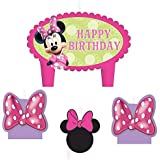 My Party Suppliers Minnie Mouse Candles / Cake Minni Candle For Girls ( Multicolor)