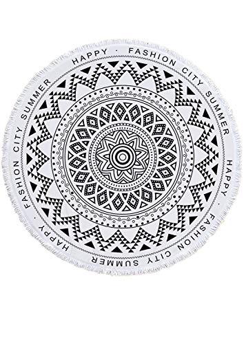 Runde Mandala Tapisserie, Hippie Hippie-Stil, Bettwäsche Tagesdecke, Zigeuner Wandbehang, indische Boho Gypsy Baumwolltuch Tischtuch Strandtuch, dekorative Wandbehang ()