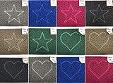 Nicoman Spaghettimatten Fußmatte für den Eingangsbereich Robuste Schmutzfangmatte aus Vinylschlingen   Geprägt Herz【75x44cm, Mittel,Aussen】,Grau