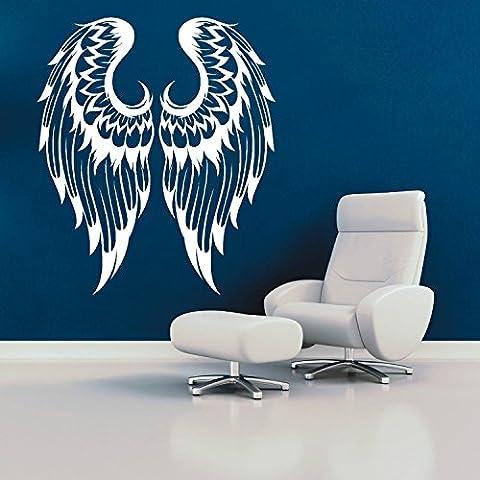 Coppia di ali d' angelo gotico vinile adesivo da parete