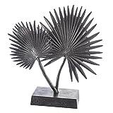 Casablanca Skulptur Palm Tree Alu, bronce H.40 cm auf Aluminiumfuß