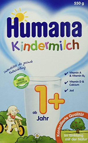 Humana Kindermilch (ab 1 Jahr), 2er Pack (2 x 550 g)
