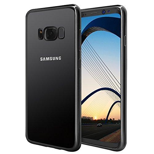 Preisvergleich Produktbild Galaxy S8 Hülle, Samione Plating TPU Galaxy S8 Schutzhülle [Kratzfest] [Shock Absorption] Ultra Slim Bumper Case für Samsung Galaxy S8 - Jet Schwarz