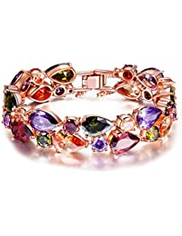 P&M-Party Queen-Bracelet femme-plaque or rose-autrichien cristal-bijoux fantaisie