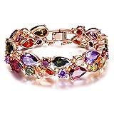 Kami Idea Cadeau Noël Bracelet pour Femme Bohème Chic composé de Cristaux Multicolorés Bijoux pour l'Aniversaire Mariage Valentin Copines Filles Petite Amie Mère Elle