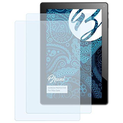 Bruni Schutzfolie kompatibel mit Odys Gate Folie, glasklare Bildschirmschutzfolie (2X)