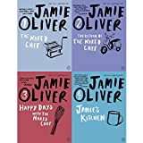 Jamie oliver collection 4 books set (the naked chef, the return of the naked chef, happy days with the naked chef, jamie's kitchen)
