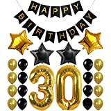 1 Set 30th Birthday Party Decoration Kit Happy Birthday Banner Balloons 32inch Foil Number 30 Years Old Party Supplies Christ
