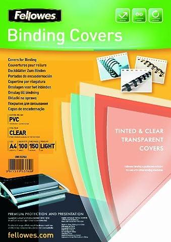 Fellowes 5376001 Couvertures A4 Transparent Lot de