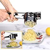 Kartoffelpresse Kartoffelstampfer Set mit 2 austauschbaren Einsätzen (Fein / Grob), aus Edelstahl für empfindlichen Kartoffelschlamm mit Gummierter Griff