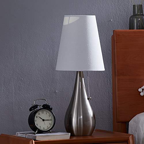 Holz Kabinett Pull (Retro Pull Tischlampe Warmes Wohnzimmer Dekorative Kabinett Lampe Moderne Schlafzimmer Nachttischlampe Sand Nickel Weiß)