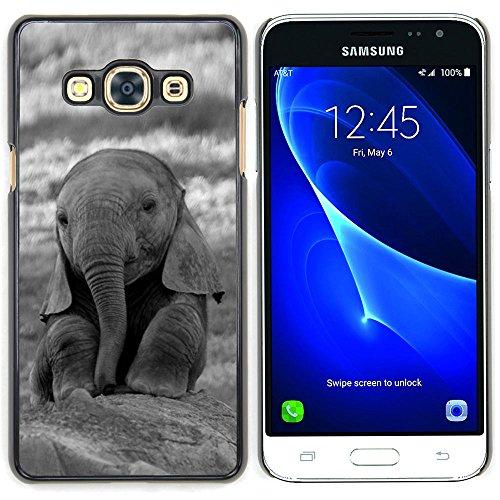 Graphic4You Niedlich Baby Elefant Tier Design Harte Dünn Hülle Tasche Schale Schutzhülle für Samsung Galaxy J3 Pro