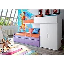 Composición tipo tren en color blanco/violeta
