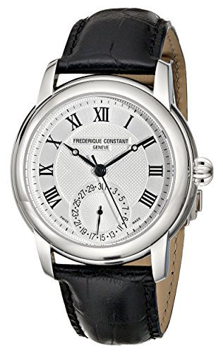 Frederique Constant Manufacture Classics FC-710MC4H6 42mm Automatic Stainless Steel Case Black Calfskin Anti-Reflective Sapphire Men's Watch