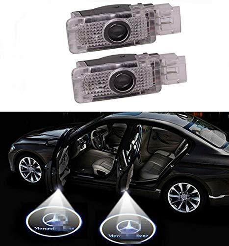 Sunshine Fly 2 Stück Autotür Logo LED Türbeleuchtung KFZ Willkommen Türen Einstiegsbeleuchtung Laser Projektor Door Logo Projektion Lichter 3D