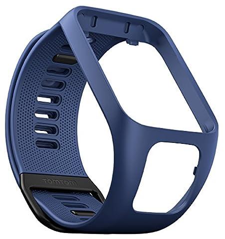 TomTom - Bracelet pour Montre TomTom Runner 3, Spark 3, Runner 2 & Spark Taille Fin Bleu Marine (ref. 9UR0.000.03)