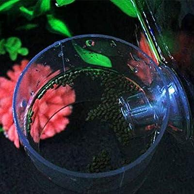 Mazhar Aquarium Fütterungskreis Acryl Fütterungsring Trompete SiYuan Aquarium Fütterungsring Aquarium Fisch - Transparent S