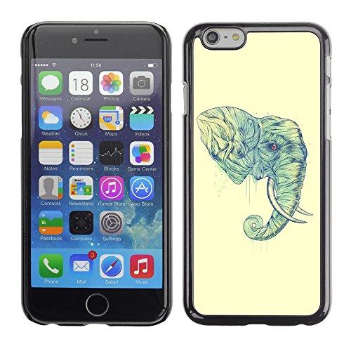 Graphic4You Niedlich Baby Elefant Tier Design Harte Hülle Case Tasche Schutzhülle für Apple iPhone 6 / 6S Design #1