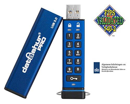 iStorage IS-FL-DA3-256-4 - Memoria Pro USB3 (4 GB) Color Azul