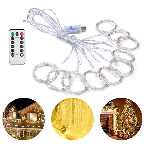 Vorhang Lichterketten, 300 LED USB Powered Lichterketten, wasserdichte dekorative Lichter, ideal für Hochzeit, Häuser, Party, Schlafzimmer ()