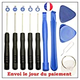 KIT OUTILS DEMONTAGE IPHONE / SAMSUNG / TABLETTE … 11 pieces