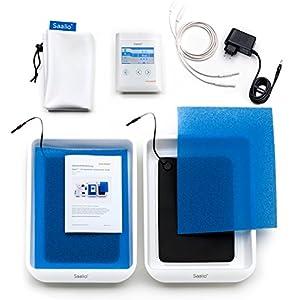 Saalio® DE Set – Iontophoresegerät gegen Schwitzen an Händen/Füßen (Puls-Gleich)