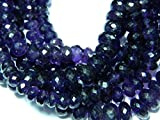 Earth Gems Park Beautiful Jewelry African Amethyst Rondelles 8mm-13mm Micro Faceted Rondelles - 10 Inches Code-UK-4558