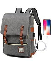 UGRACE Vintage Laptop Backpack With USB Charging Port, Elegant Water Resistant Travelling Backpack Casual Daypacks...