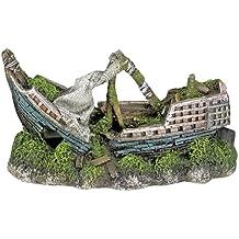 Nobby Adorno para acuario Aqua con forma de barco, tamaño 16,5 de largo