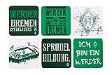 Unbekannt SV Werder Bremen Glasuntersetzer 6-er Set