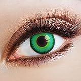 aricona Farblinsen grüne Kontaktlinsen ohne Stärke Jahreslinsen Halloween Kostüm