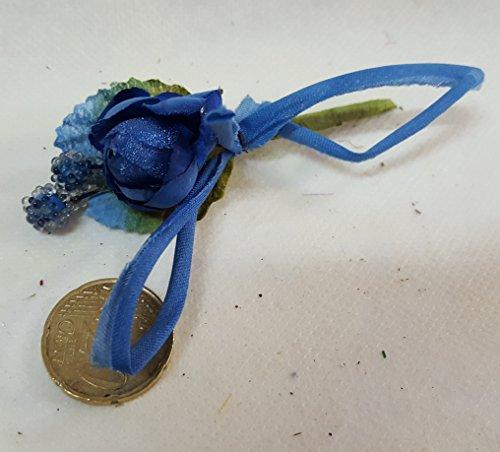 Confezione 24 pezzi-fiori, bomboniera fiore pick , x segnaposto, composizione confetti. (ck1345) (blu)