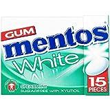 12 paquets de gomme à menthe blanche Mentos (12 x 22,5g)