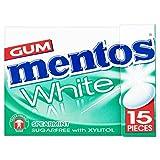 12 confezioni di Mentos White Spearmint Gum (12 x 22.5g)