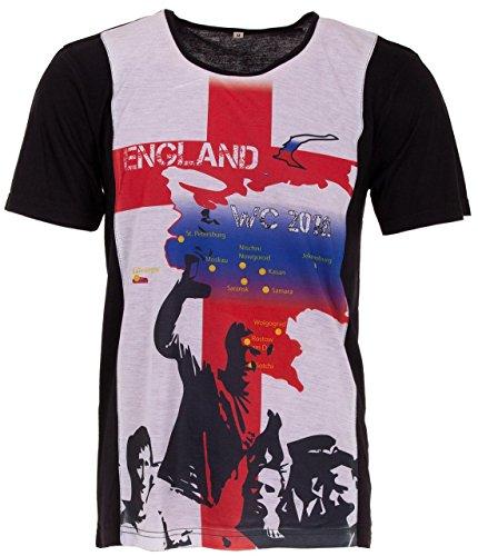 LUCKY WM 2018 - Camiseta de fútbol para Hombre, diseño de la Copa del Mundo de Rusia Blanco XXL