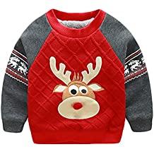 Baymate Unisex Kinder Weihnachtskostüm Sweatshirt Weihnachten Hirsch Langarmshirts Pullover (Höhe 75-135cm)
