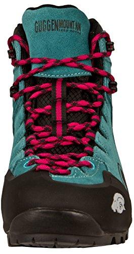GUGGEN Mountain PM021 Damen Trekking-& Wanderstiefel Wanderschuhe Trekkingschuhe Outdoorschuhe Wasserdicht mit Membran und Wildleder Türkis